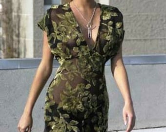 Lily Pad silk velvet vintage style