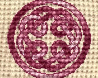 Round Knotwork Cross Stitch Pattern - Digital Download