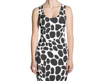 Black Stones,Sublimation Cut & Sew Dress,Prinful, Hand Sew, USA