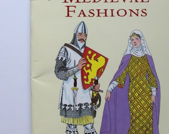 Vintage Medieval Fashions Coloring Book by Tom Tierney 1990s
