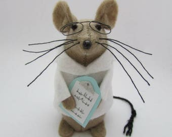 Doctor Mouse - Scientist Mouse - Felt Mice - Felt Mouse - Medical Ornament
