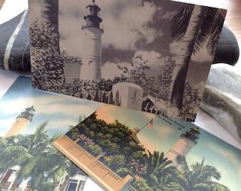 Key West Florida Lighthouse Postcard Lot 1940's & 1950's