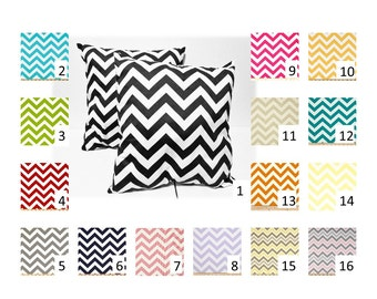 2 Chevron Throw Pillow Covers in your choice of Fabric and Size -  FREE DOMESTIC SHIPPING