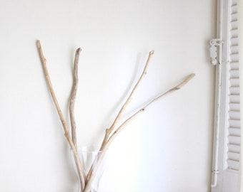 """4 Driftwood Branches -- 22"""" to 25.2"""" (56 to 64 cm) -- Fine Quality Sea Drift Wood -- For DIY Art Projects, Wall Hangings, Herbs Rack"""