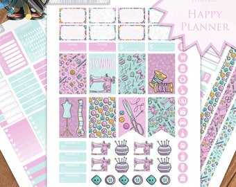 Sewing Planner Stickers - Happy Planner Stickers Printable - Weekly Planner - Stickers Set - Instant Download - Printable Planner - PDF