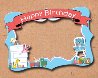 Baby Room  themed party photo frame