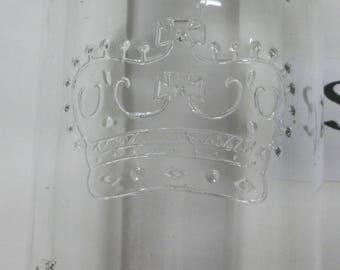 SJ6    Clear embossed made in Canada Crown sealer jar.
