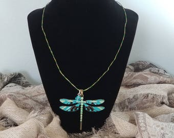 Dragonfly Wire Pendant