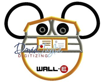 Mickey Head - Wall-E - Embroidery Machine Design - Applique - Instant Download - David Taylor Digitizing
