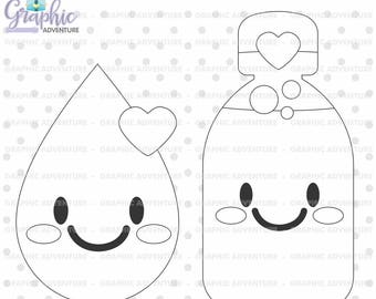 Hydrate Stamps, Water Stamps, Hydration Stamps, Digital Stamps, COMMERCIAL USE, Digi Stamp, Hydrate Digistamp, Water Coloring Page