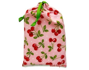Planner Cover Planner Pouch Planner Carrying Case Happy Cherry Pastel Pink Drawstring Pouch Bag Planner Accessories