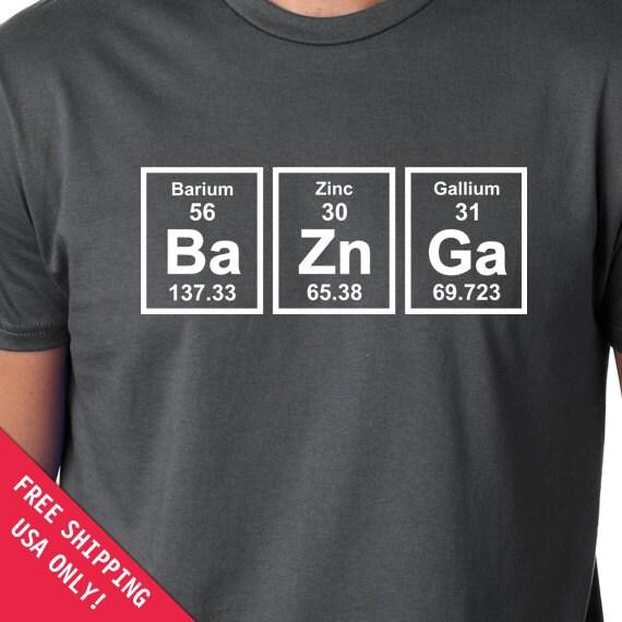 Baznga periodic table mens womens t shirt chemical elements like this item urtaz Choice Image