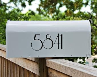 Art Nouveau Mailbox Numbers (2 sets) | Custom Mailbox Decals