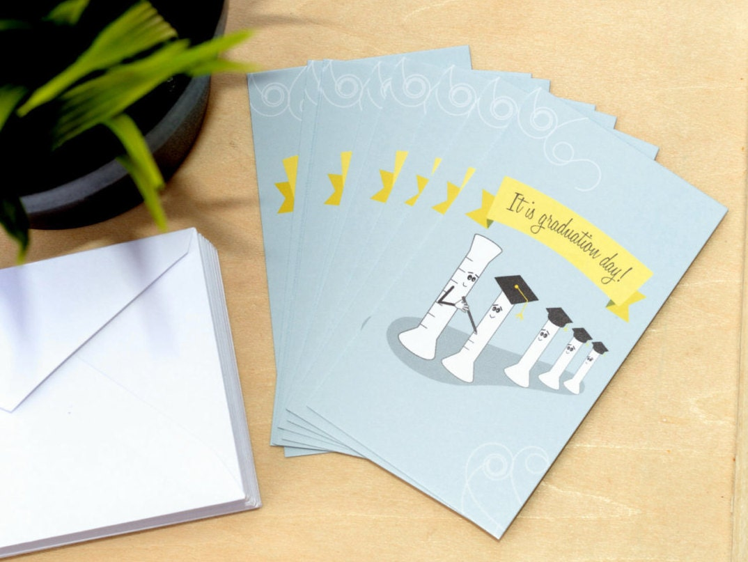 Mini science graduation cards set of 12 graduated cylinder zoom kristyandbryce Gallery