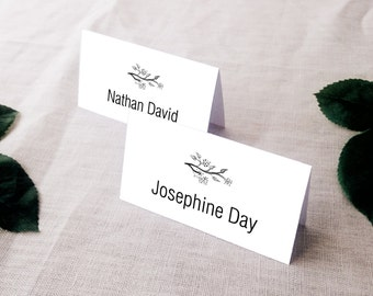 Willow event place cards / tented or flat / affordable printable wedding / digital file