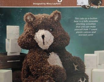 "Plastic Canvas Leaflet ""Teddy Bear Buddy"""