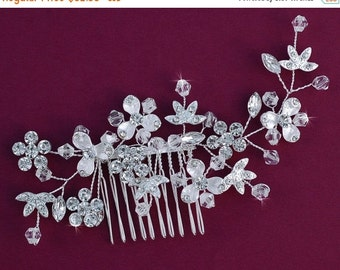 SILVER or GOLD Crystal Bridal Comb Party Hair Accessories Accessory Wedding Hair Piece Jewelry Prom Hairpiece Barrette Clip Birdcage Veil