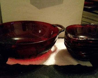 Ruby Red Berry Bowl Set