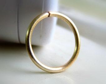 gold nose ring hoop / nose hoop 18g 20g 22g - cartilage hoop earring - tragus earring hoop