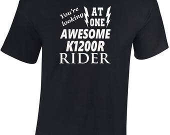 Awesome K1200R Rider   T shirt  Funny Ideal Gift Biker personalised