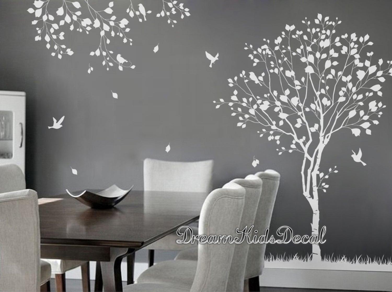 arbre naturel sticker arbre arbre blanc stickers muraux. Black Bedroom Furniture Sets. Home Design Ideas