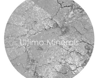 Ultimo Minerals .44 MAG Silver Eye Shimmer - Natural Mica Infused Pigment - All Natural: Chemical & Gluten Free - Free Shipping!!