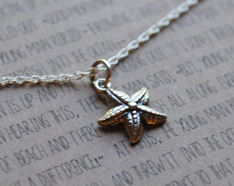 READY TO SHIP The starfish necklace  .  gift for graduation  .  Make a difference  .  inspirational jewelry for teacher