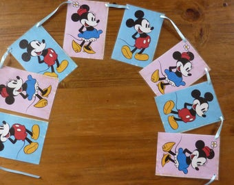 Vintage Disney Micky & Minnie Mouse Bunting