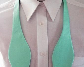 Mens  Bowtie Pastel Mint Green Self Tie Bow Tie