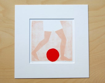 Ball trap/number 1; artprint incl. passepartout 20x20cm (limited edition)