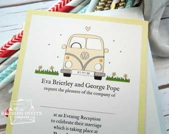 Campervan Postcard Wedding/Evening Invitations