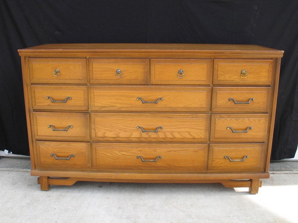Vintage Sumter Cabinet Co. 13 Drawer Dresser Korn Industries