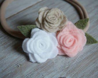 Nylon Headband Felt Bouquet