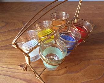 Vintage/Vintage Glass holder Set.