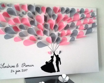 guest book - tree signatures-3d tree prints for 80 people