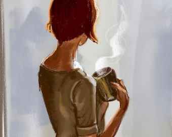 "Art print ""Coffee Moments"" by Antonia Sanker"