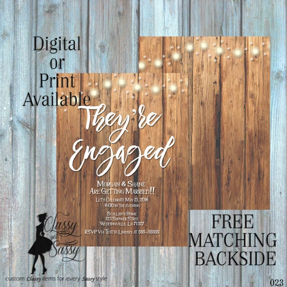 Engagment Party Invitation, Outdoor Shower Invitation, Rustice Shower, Couples Wedding Shower Invitation, Engagement party Invitation 023