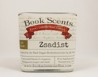 Zsadist - Book Inspired Candle - Hand Poured, 10 oz coconut wax container candle