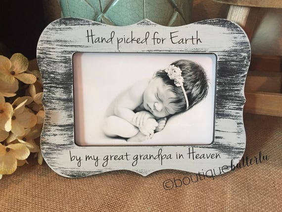 Hand Picked For Earth By My Baby Announcement Grandparents
