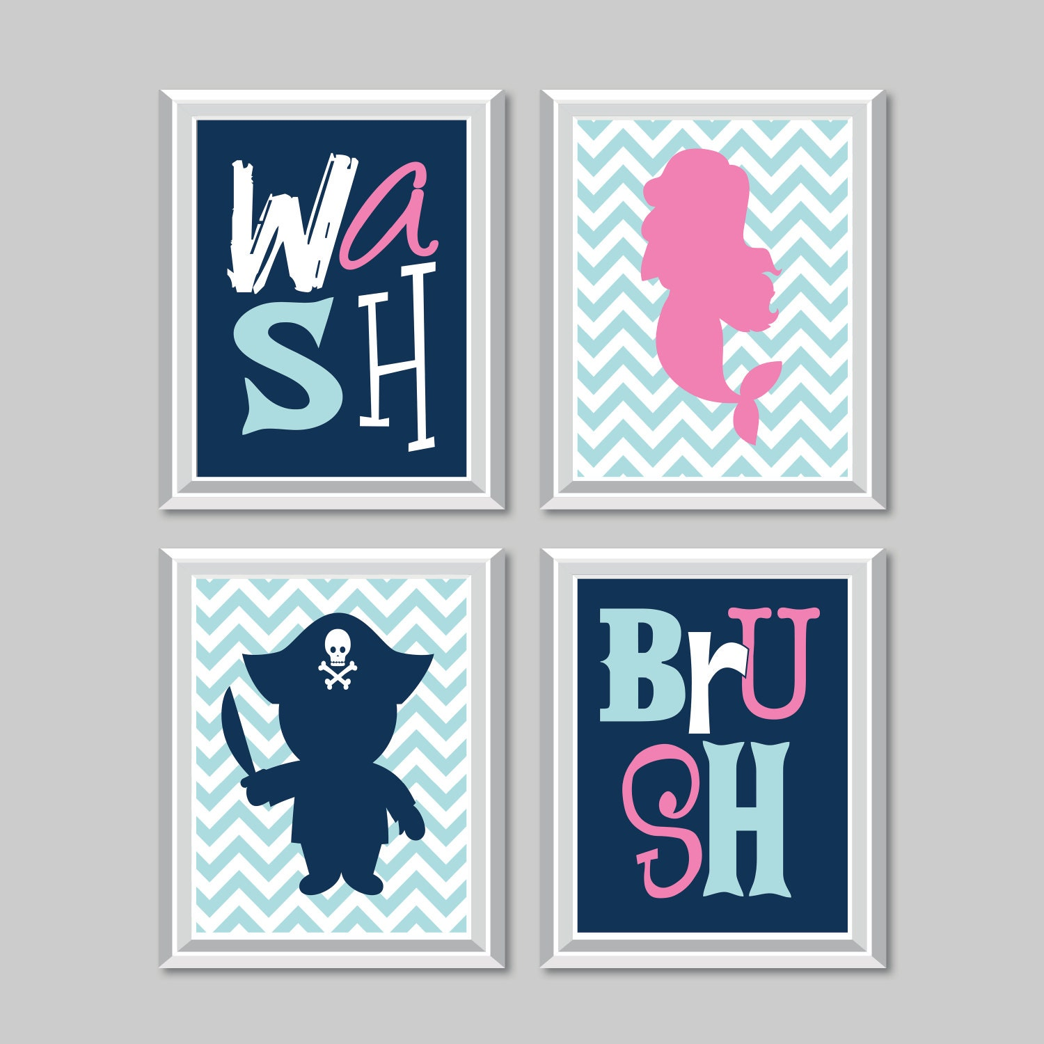 accessories fullxfull fubz kids il listing bathroom decor pirate child mermaid ns kid bath print art