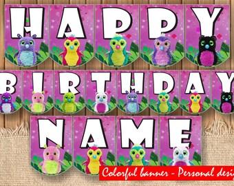 DIGITAL Hatchimals personalized banner| Hatchimals Party| Hatchimals birthday| Hatchimals poster| Printable Hatchimals