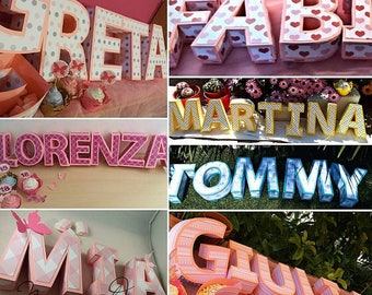 Boxes letter 3d, ideal for decoration, party, baby shower