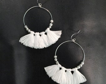 Handmade Four Tassel Earrings