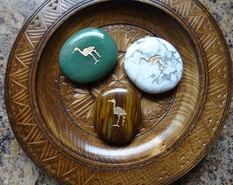 CRANE Gemstone Animal Spirit Totem for Spiritual Jewelry or Crafts