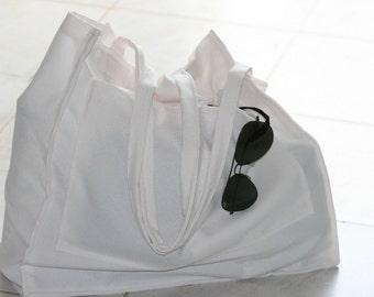 Shoulder Bag, Big Sopping Handbag, Big Tote Bag, Large Handmade Bag, Beach Bag , White HandBag,Grocery Bag,