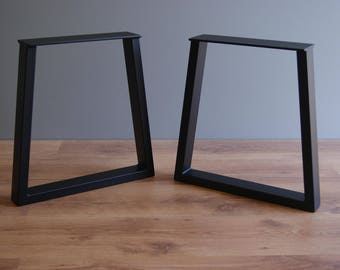 Trapezoid steel bench legs, bench base (SET OF 2)