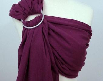 Woven ring sling - 100% organic cotton- Plum