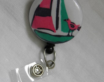 Sailboat badge reel, id holder, retractable badge