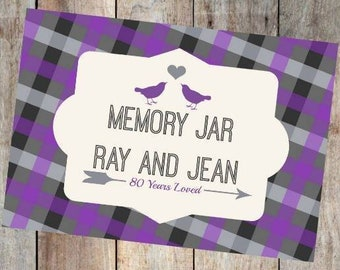 80 years loved! Memory jar sign