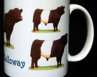 Belted Galloway Ceramic Mugs, choose from five designs
